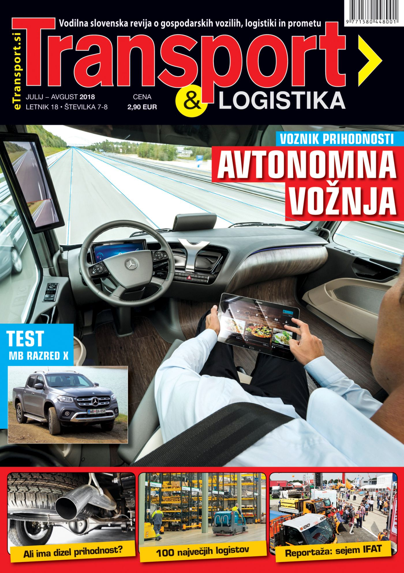 Revija Transport & Logistika julij avgust 2018