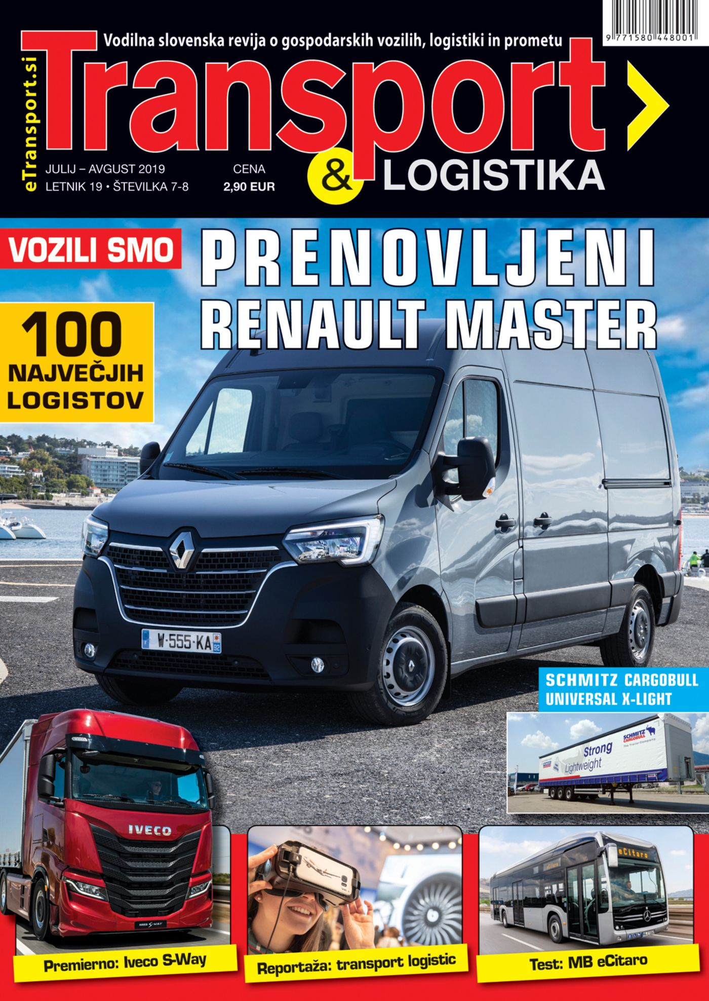 Revija Transport & Logistika julij & avgust 2019