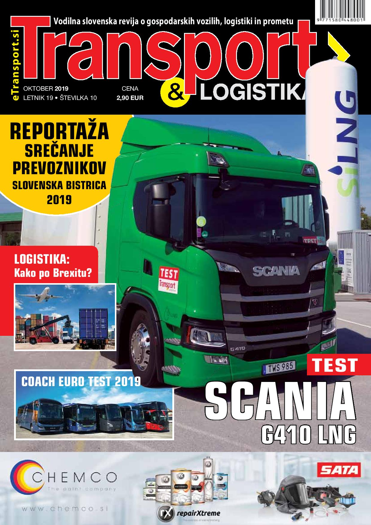 Transport & Logistika naslovnica - oktober 2019